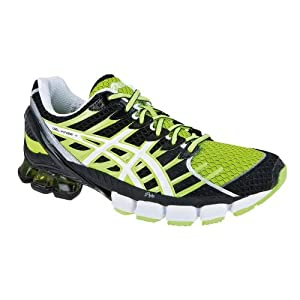 ASICS Men's Gel-Kinsei 4 Running Shoes, Black/Green, US11.5