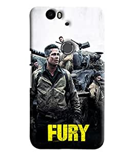 Blue Throat Fury Inspired Hard Plastic Printed Back Cover/Case For Huawei Nexus 6P