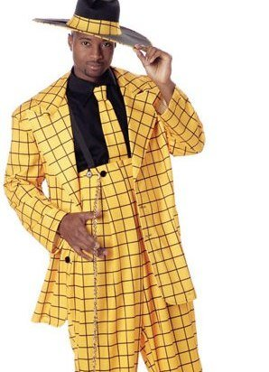 Cheap Mens Adult Costume 1940s Flashy Yellow and Black 40s Zoot Suit Gangster Pimp Zuit Suit Party Outfit  sc 1 st  Best Halloween Costume Adults : pimp costumes for mens  - Germanpascual.Com