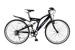 My Pallas(マイパラス) クロスバイク M-650-2-NV 26インチ 6段変速 リアサスペンション付 ネイビー
