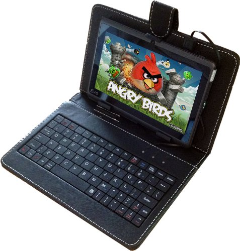 New Evodigitals 7″ Capacitive Tablet Android 4.0.4 Allwinner A13 Multi Touch With Keyboard!