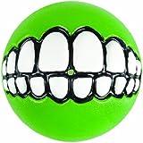 Rogz Grinz Treat Ball Dog Toy, Medium Lime