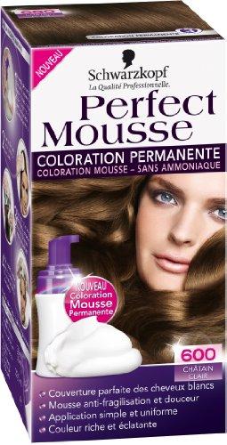 schwarzkopf perfect mousse coloration permanente chtain clair 600 - Mousse Colorante Temporaire