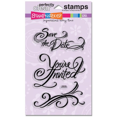 Stampendous SSC1106 Perfectly Clear Stamp, Invite Save