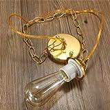 1M E27/E26 Ceiling Rose Chain Pendant Chandelier Light Lamp Bulb Holder Socket-chrome