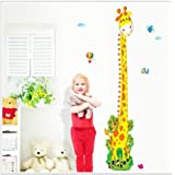 Kappier Cute Giraffe Height Measurement Growth Chart In Inches And Centimeters Removable Wall Decals