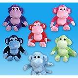 "21"" Colored Monkeys Plush, Case Of 24"