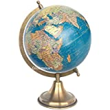 Globeskart Educational/Antique Globe With Brass Antique Arc And Base , 8 In (Royal Blue)