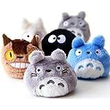 6pcs/Lot 8cm Totoro Pendant Ornaments Movie Spirited Away Plush Doll Super Quality Kids Toy Gifts For Girls (Randomly)