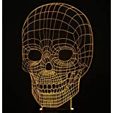 Amazing Optical Illusion 3D Deco Light/LED Lamp/Night Light,7 Different Color Is Adjustable (Skull)-NEWCOM