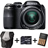 Fujifilm FinePix S4200 + Case + 16GB Memory + 4 AA Batteries and Charger(14MP, 24x Optical Zoom) 3 inch LCD Screen