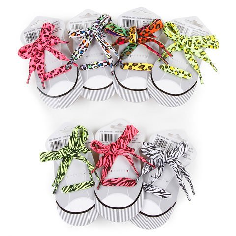 Bulk Buy: Darice Crafts for Kids Shoelaces Assorted Animal Prints (12-Pack) 2701-93 bulk buy martha stewart clear stamps vintage garden 3 pack