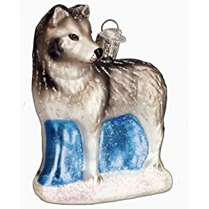 #!Cheap Old World Christmas Winter Wolf Ornament