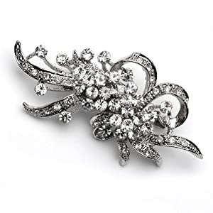 Rhinestone Silver Crystal Bridal Brooch for Bride and Bridesmaids 1120