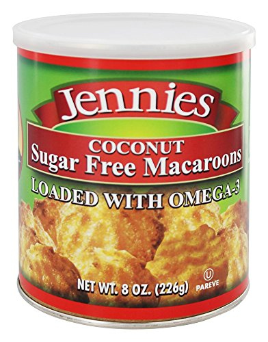 Jennies Macaroons Jennies – Sugar Free Macaroons Loaded With Omega-3 Coconut – 8 oz ...