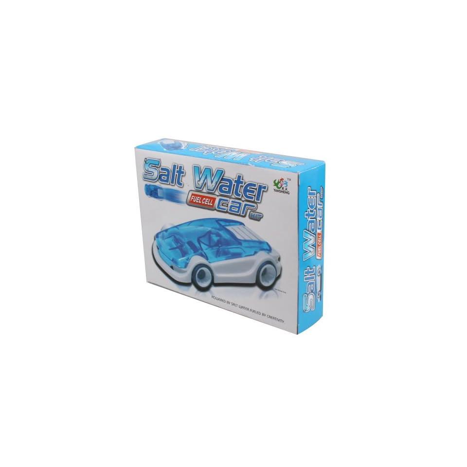 DIY Mini Salt Water Powered Car Toy, White & Blue