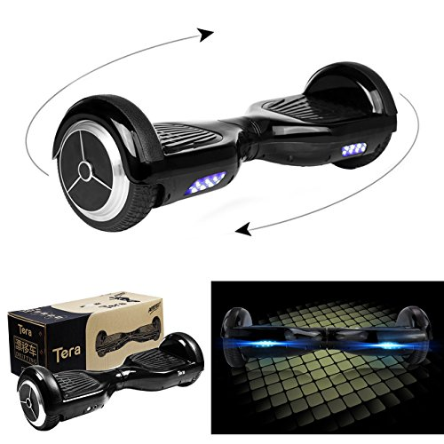 Tera® スマート セルフバランス スクーター キックボード Drifting Scooter ドリフティングスクーター パーソナルモビリティ 電動 二輪車 立ち乗り 電気自動車 防水 充電タイプ ミニバージョン 充電器付