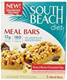 South Beach Diet Peanut Butter Chocolate Chip Meal Bar, 1.76 Ounces, 5-Count (Pack of 8)