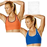 Champion Women's Absolute Racerback Sport Bra with SmoothTec Band (Pack of 2)