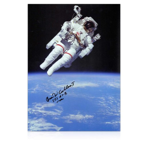 Bruce Mccandless Ii Signed Photo: First Untethered Space Walk