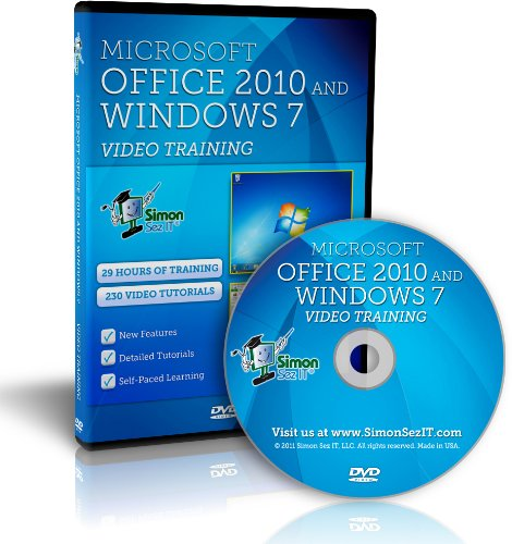 Learn Microsoft Office 2010 And Windows 7 - 29 Hours Of Video Training Tutorials For Windows 7, Excel, Word, Powerpoint, And Outlook 2010 By Simon Sez It