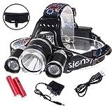 5000ルーメン LED ヘッドライト Siensync(TM) 3x CREE XM-L XML T6 4モード 超強力 防水 軽量 アウトドアー 夜釣り 工事作業 自電車 ハイキング キャンプ