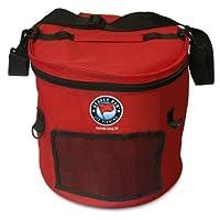 Beaver Dam Round Tip-Up Carry Bag, Red