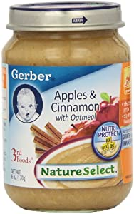 amazon   gerber 3rd foods oatmeal apple cinnamon 6
