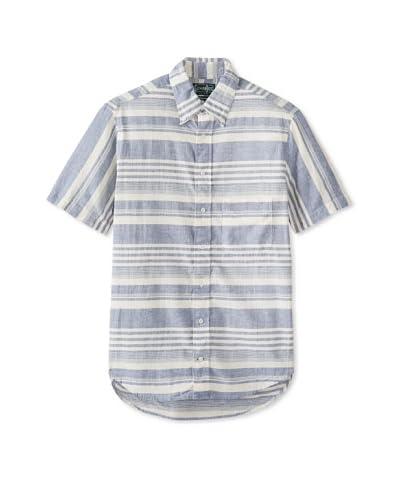 Gitman Vintage Men's Varegiated Stripe Button-Up Shirt