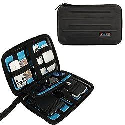 Portable EVA Hard Drive Travel Organizer Electronics Cables Accessories /Hard Drive Portable Hard Drive Case Small Bag for Electronics (Black)