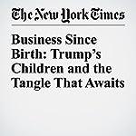 Business Since Birth: Trump's Children and the Tangle That Awaits | Matt Flegenheimer,Rachel Abrams,Barry Meier,Hiroko Tabuchi