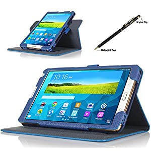 ProCase Samsung Galaxy Tab S 8.4 Dual View Case (horizontal and vertical display) - Rotating Cover Case with Stand exclusive for 2014 Samsung Galaxy Tab S (8.4 inch, SM-T700) Tablet (Navy, Dark Blue) by ProCase