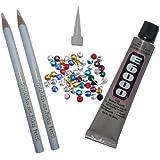 E6000 9ml adhesive glue + 2 Pick Up Pencil + FREE RHINESTONES bead GEM rhinestone for bling converse shoe bag purse
