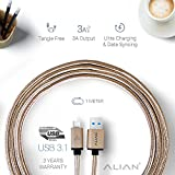 #9: ALIAN Type C Cable [CHECK-R Passed] (Supports Samsung S8/S8+, OnePlus, MacBook, LeEco, Nexus, Pixel, Xiaomi, Meizu, Gionee, Samsung, Nokia, Microsoft Lumia and many other devices)