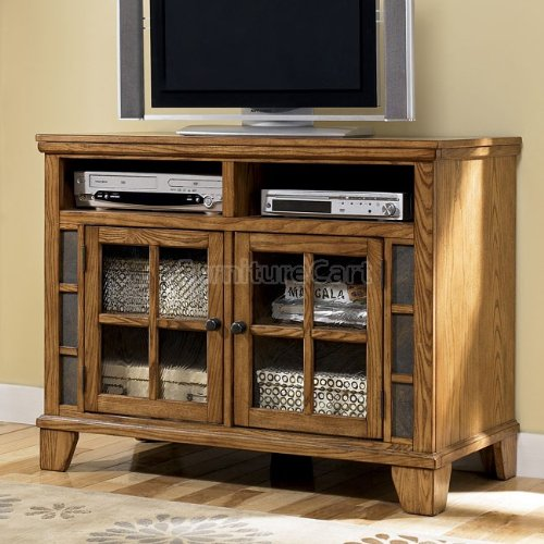 Cheap Cottage Style Kinley Medium Brown Wood TV Stand (W674-18)