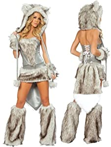 Sexy Fur Big Bad Wolf Complete Costume - Small