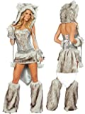 Sexy Fur Big Bad Wolf Costume – SMALL Picture