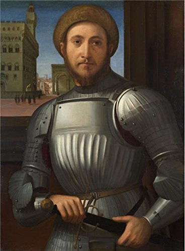 The Perfect Effect Canvas Of Oil Painting 'Francesco Granacci - Portrait Of A Man In Armour,about 1510' ,size: 8x11 Inch / 20x28 Cm ,this High Resolution Art Decorative Canvas Prints Is Fit For Gym Decor And Home Gallery Art And Gifts