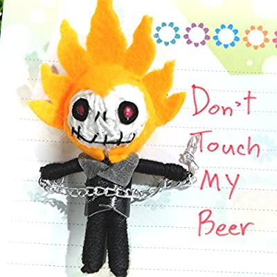 3D GHOST RIDER Fridge Refrigerator Magnet Cute Voodoo Doll Souvenir Gift Collectibles