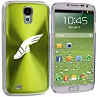 Samsung Galaxy S4 S IV i9500 Aluminum Plated Hard Back Case Cover Track and Field Wing Shoe (Green)