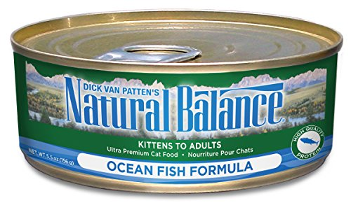 Natural Balance Canned Cat Food, Ocean Fish Recipe, 24 x 6 Ounce Pack