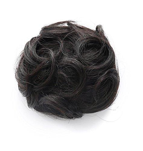 Rosette-Hair-100-Human-Hair-Scrunchie-Hair-Bun-Extension-Donut-Hair-Chignons-Curly-Messy-Up-Do-Hair-piece