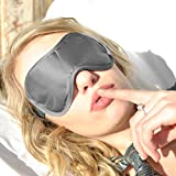 UNIQUE GIFT GIVING IDEA for Men- Women or Teens. A Side Sleeper Black Satin -Sleep More- Sleeping Eye Mask with Memory Foam Ear Plugs. Our Sleep Masks are Super Lightweight-Made of High Quality Satin-Durable-Easy to Wash and are a Perfect Natural Aid for Sleep Disorders and Insomnia....