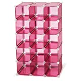 Storage Solutions 0743P4 15 Pair Customizable Shoe Cubby, Pink ~ Storage Solutions
