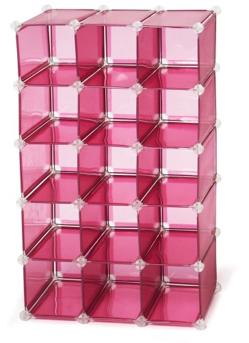 storage solutions 0743p4 15 pair customizable shoe cubby