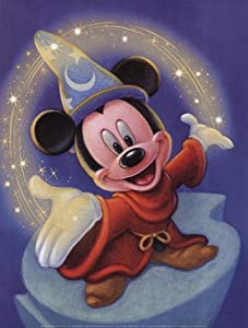 (12x16) Fantasia Movie Sorcerer's Apprentice Sorcerer Mickey Mouse Magic Disney Poster Print