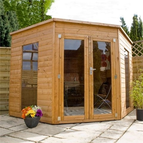 8FT x 8FT SOLIS CORNER SUMMERHOUSE (Solid OSB & Floor)