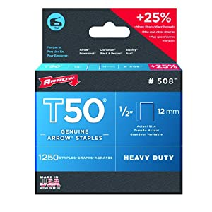 Cheap Arrow 508 Genuine T50 1 2 Inch Staples 1250 Pack