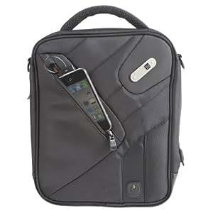 Powerbag Tablet Messenger Bag with Battery for Charging Tablets, Smartphones and eReaders, Black (RFAP-0088F)