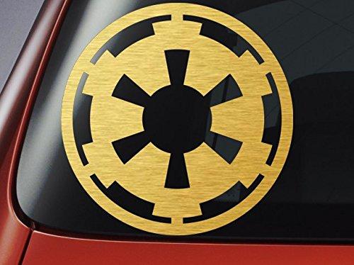 Level 33 Ltd - Adesivo per auto, finestra, parete, motivo: logo Star Wars Empire/stemma imperiale
